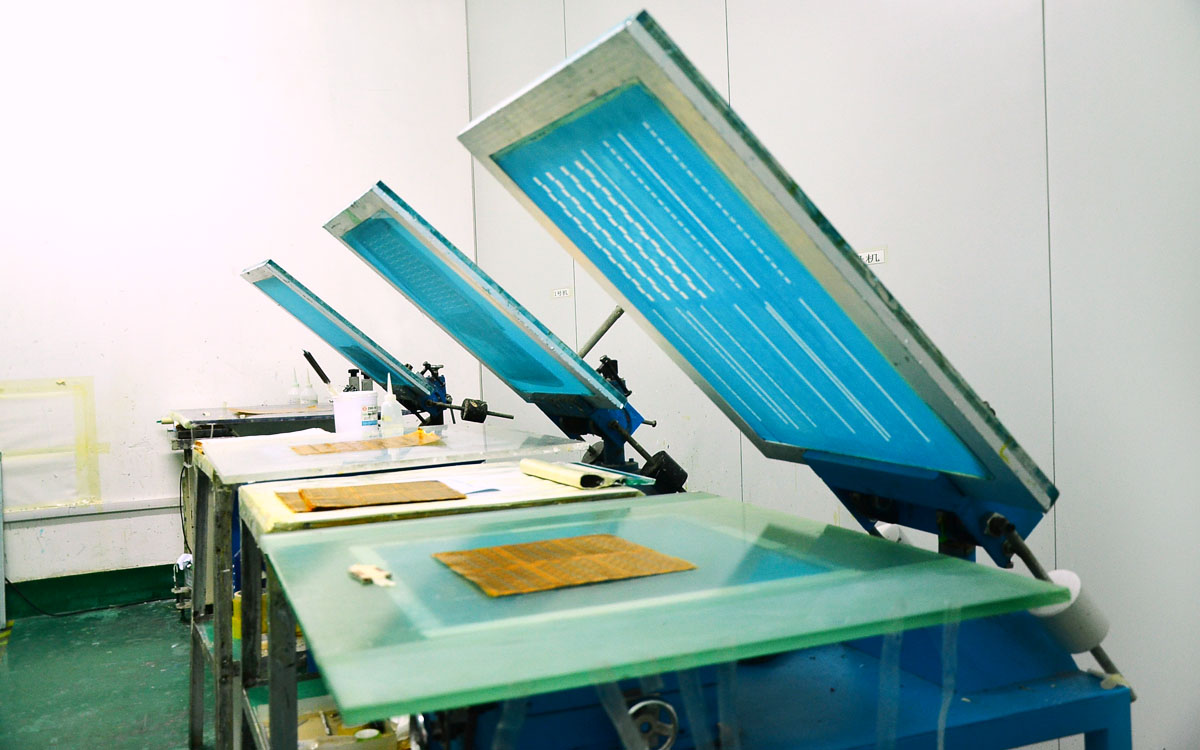 Silk screen process